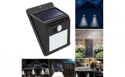 2 lampi solare cu 30 LED-uri si senzor