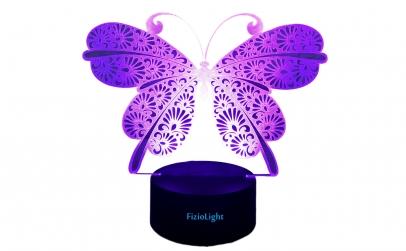 Lampa 3D LED Fluture