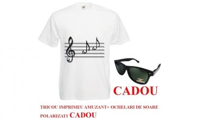 Tricou SKULL MUSIC+ ochelari CADOU