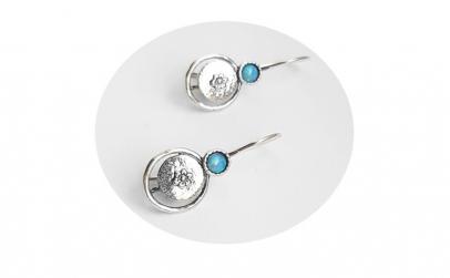 Cercei argint 925 Israel floare cu opal