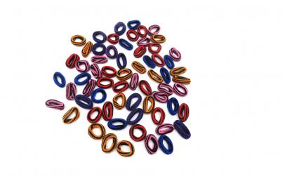 Set 90 elastice de par, dungi