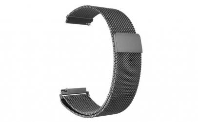 Bratara Milanese Loop neagra 22mm