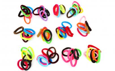 Set 12 elastice par, colorate