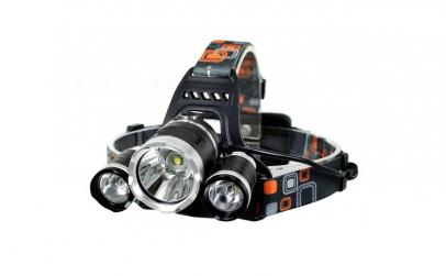 Lanterna cap reincarcabila, 3x LED Cree