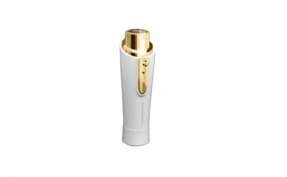 Epilator facial portabil cu LED, Alb