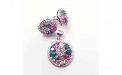 Set bijuterii din Argint cu Zirconii
