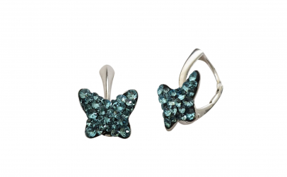 Cercei Butterfly Aquamarine Ceralun