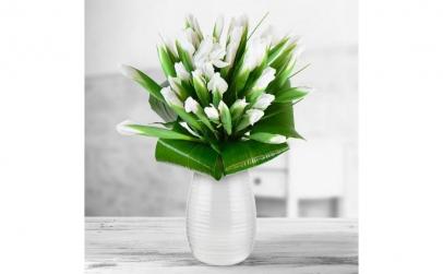 Buchet de 45 irisi albi