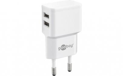 Incarcator de retea dual USB 2.4 A alb