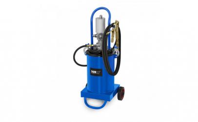 Pompa de gresat pneumatica mobila 12L