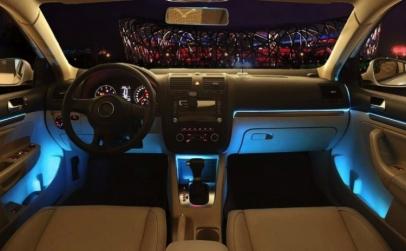 Banda led RGB pentru interior auto