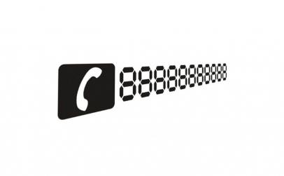 Sticker autocolant cu numar de telefon
