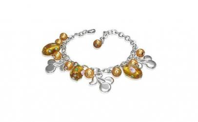 Bratara fantezie cu cirese si perle
