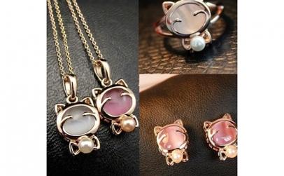 Set bijuterii Lucky Hello Kitty