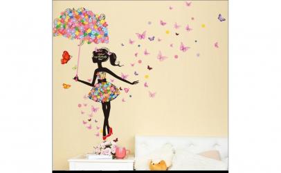 Sticker decorativ Umbrela din flori