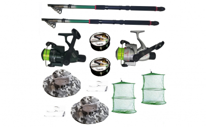 Set pescuit cu 2 lansete de 2.7m