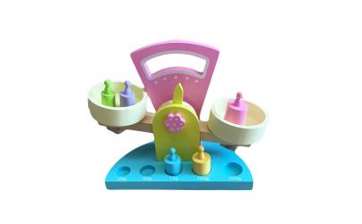 Jucarie Montessori Cantar din lemn