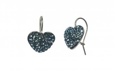 Cercei Heart Aquamarine, Ceralun
