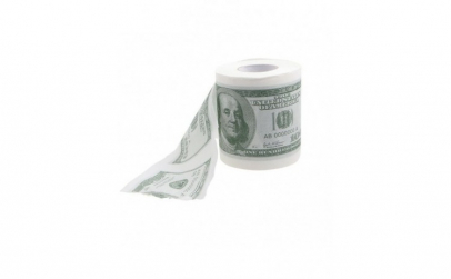 Hartie igienica dollar print, amuzanta,