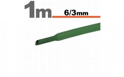 Tub termocontractibilVerde • 6 / 3 mm