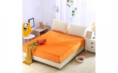 Cearceaf de pat Jersey portocaliu