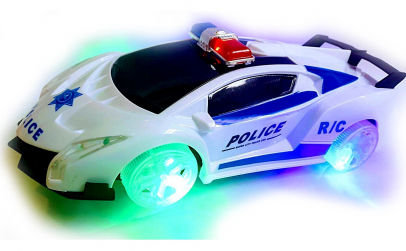 Masinuta de politie cu sunete si lumini