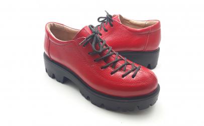 Pantofi dama rosii, piele naturala