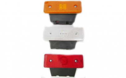 Lampa laterala cu 4 LED SMD 24V rosu