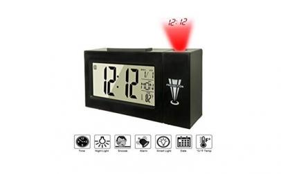 Ceas cu proiectie, alarma si termometru