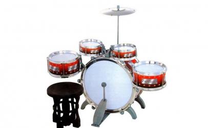 Set de tobe copii Jazz Drum, 10 piese