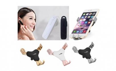 Casca Bluetooth in-ear + Suport telefon