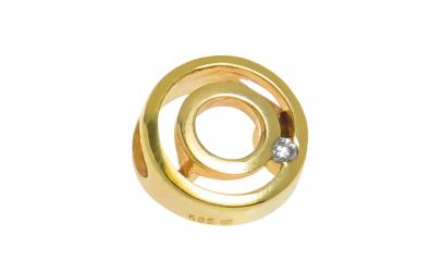 Pandantiv din aur 14K cu diamant