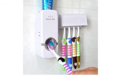 Dozator pasta de dinti cu suport periute
