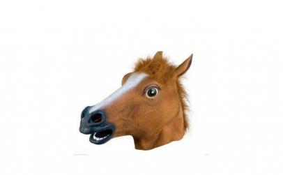 Masca amuzanta cap de cal, din latex,