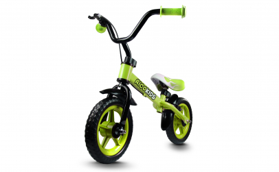 Bicicleta fara pedale Ricokids, verde