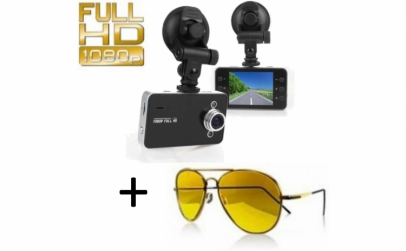 Camera auto DVR Full HD 1080p + Ochelari