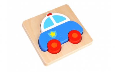 Mini Puzzle lemn, masina de politie,Took