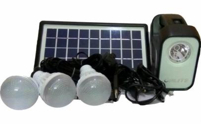Kit lampa cu incarcare solara, 3 becuri