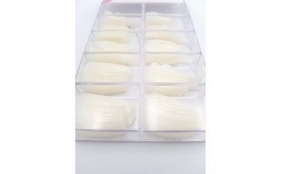 Set 100 unghii false tips, albe