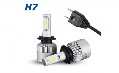 Set 2 becuri cu LED AUTO H7, 6000K