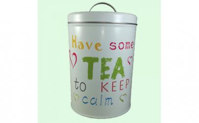 Cutie ceai  metalica  100 gr