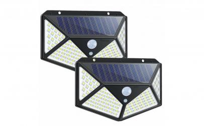 Lampa 100 LED cu panou solar