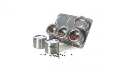 Set condimente cu suport magnetic