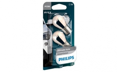 Set 2 becuri Philips PY21W Silver Vision