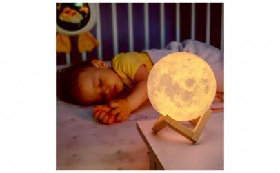 Lampa LED forma de luna plina 2 culori