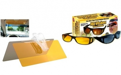 Set auto HD Vision+ ochelari HD zi