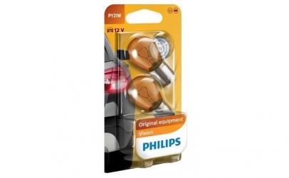 Set 2 becuri Philips PY21W Orange