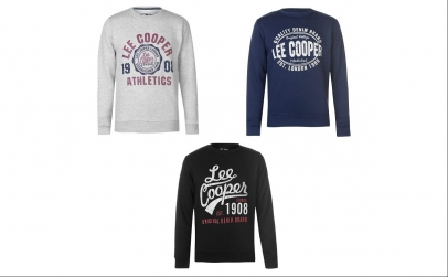 Pulover barbati Lee Cooper Crew Logo