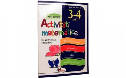 Activitati matematice 3-4 ani Grupa mica