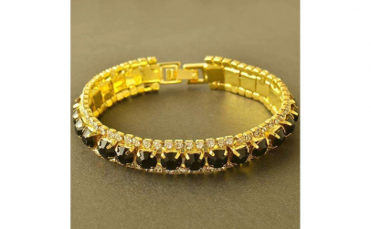 Bratara Glamour Black Crystal